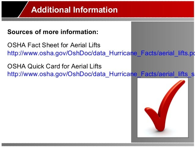 Aerial lift safety training by fhm insurance for Aerial lift certification card