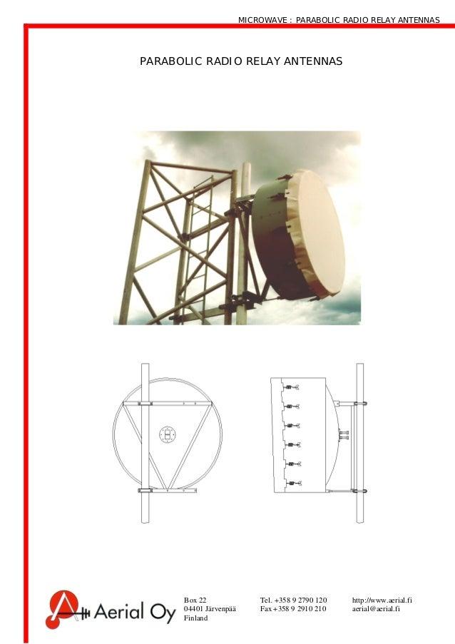 Microwave antennas - Mikroaalto heijastin antennit