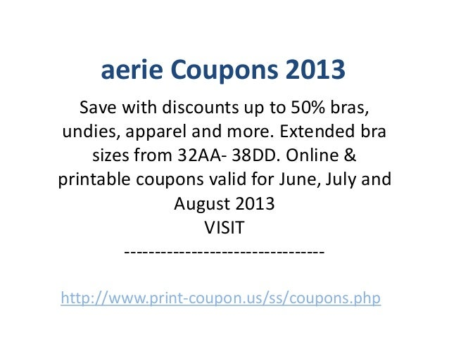 Aerie coupons 2018 printable
