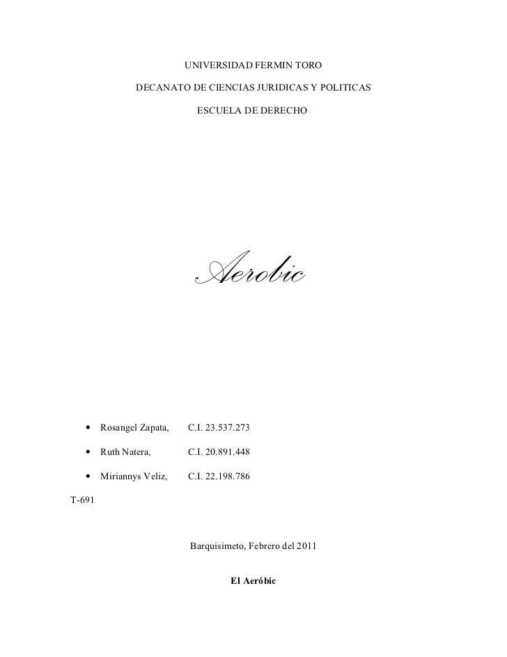 UNIVERSIDAD FERMIN TORO                DECANATO DE CIENCIAS JURIDICAS Y POLITICAS                             ESCUELA DE D...