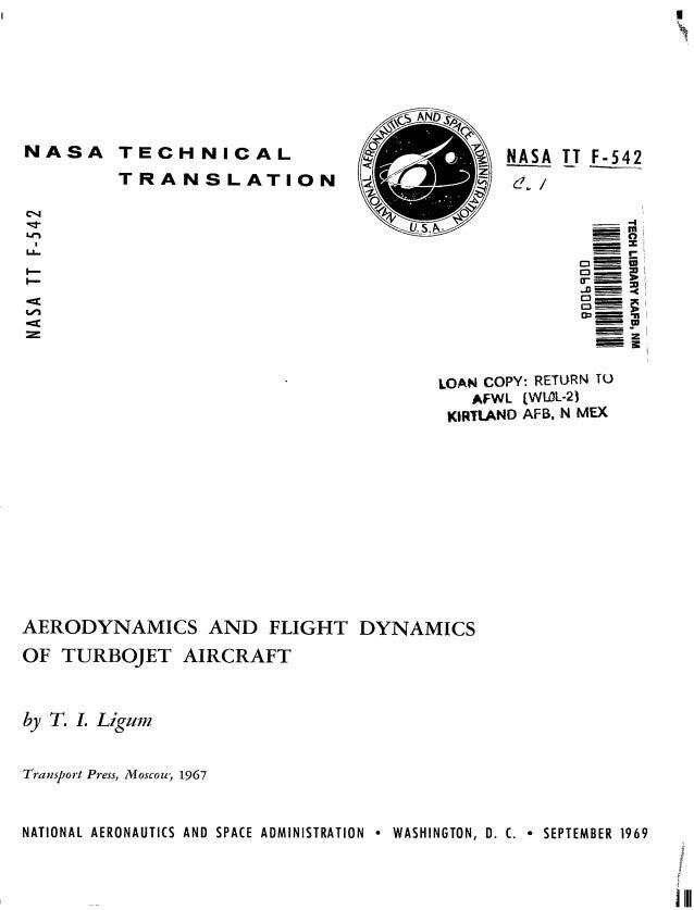 Aerodynamics and flight dynamics