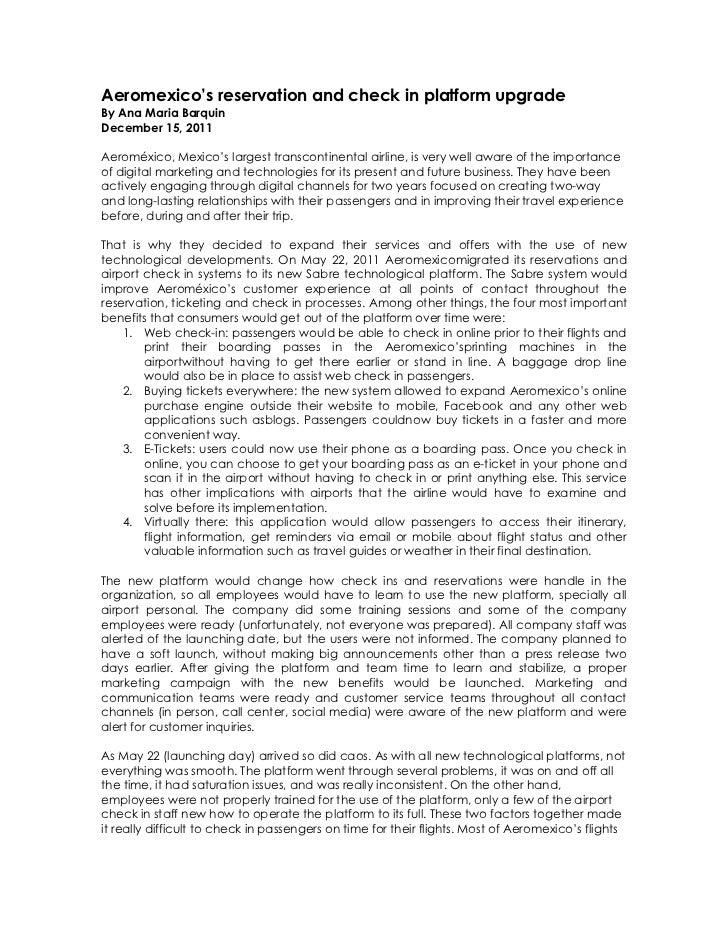 Aeromexico's case study