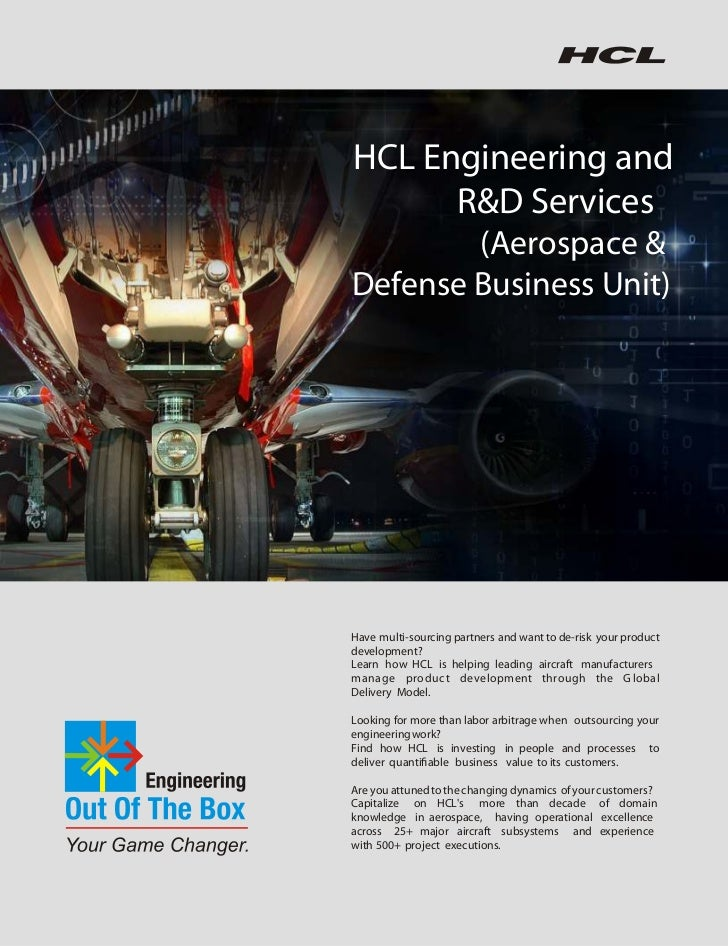 HCLT Whitepaper: HCL Engineering and R&D Services - Aerospace & Defense Business Unit