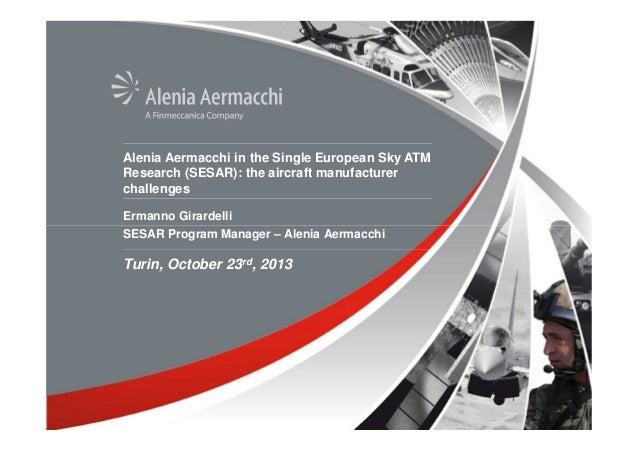 Alenia Aermacchi in the Single European Sky ATM Research
