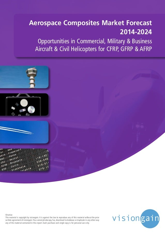 Aerospace Composites Market Forecast 2014-2024 Opportunities in Commercial, Military & Business Aircraft & Civil Helicopte...