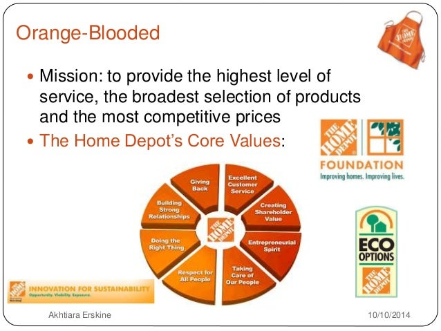home depot objectives