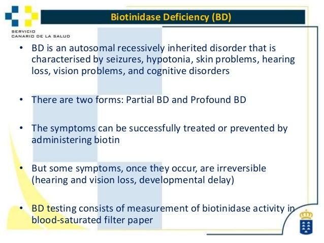 an analysis of biotinidase deficiency