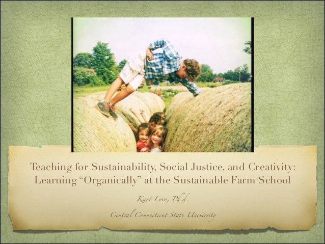 """Teaching for Sustainability, Social Justice, and Creativity: Learning """"Organically"""" at the Sustainable Farm School"""