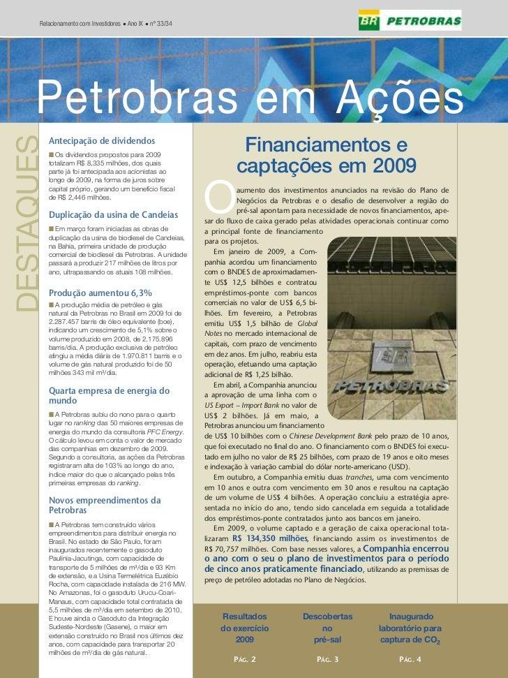 Edição 33/34 - Petrobras em Ações - n°04/2009