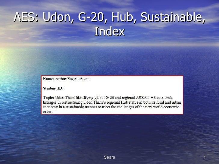 AES: Udon, G-20, Hub, Sustainable, Index