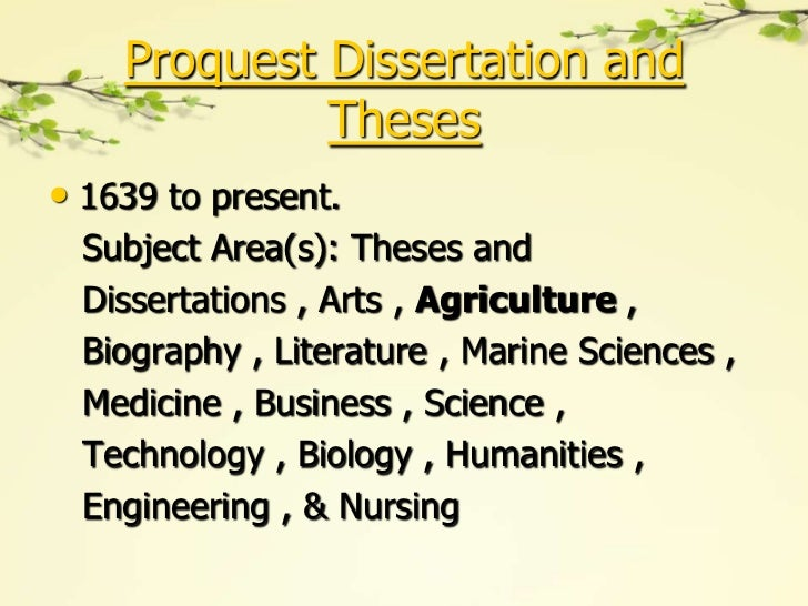proquest theses and dissertations search Proquest dissertations and theses search