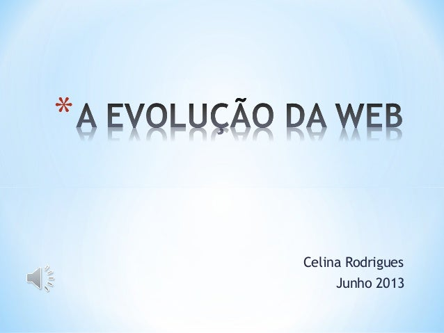 A evoluçao da web