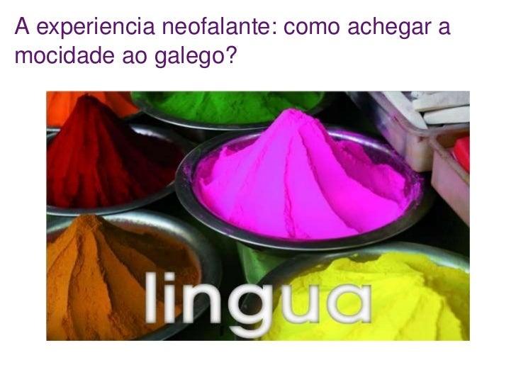 A experiencia neofalante: como achegar a mocidade ao galego xiii encontros para a normalización lingüística