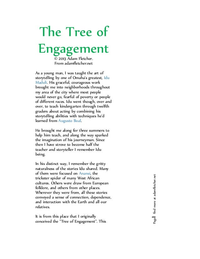 The Tree of Engagement