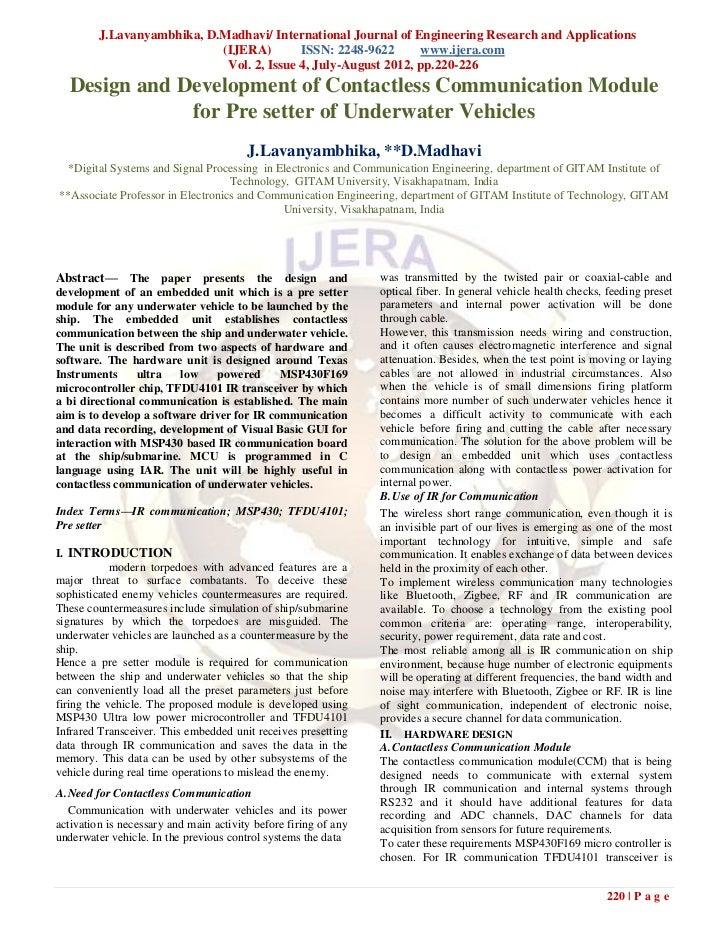  J.Lavanyambhika, D.Madhavi/ International Journal of Engineering Research and Applications                            (I...