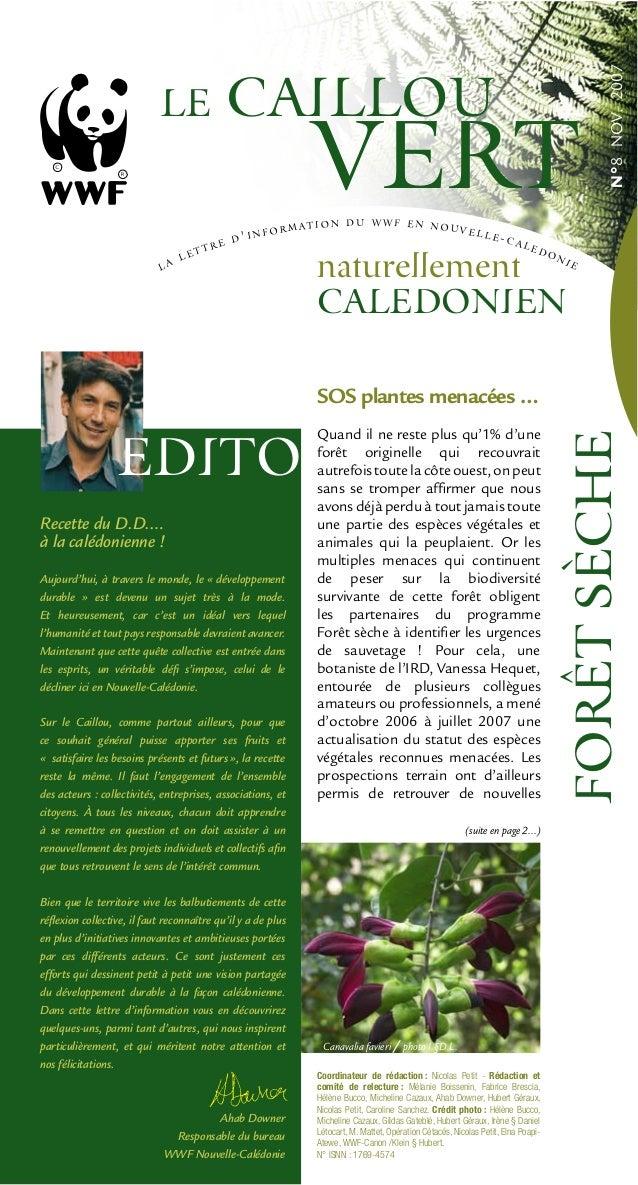 N°8NOV.2007 (suite en page 2...) Recette du D.D.… à la calédonienne ! Aujourd'hui, à travers le monde, le « développement ...