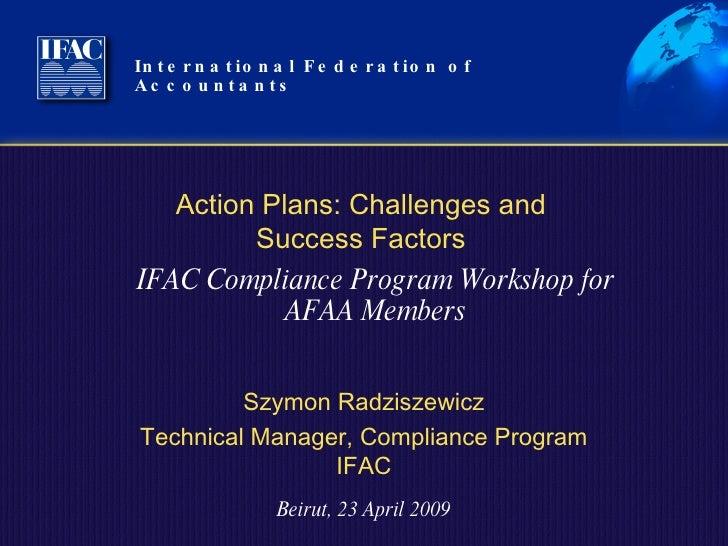 Action Plan Workshop Apr 23 2009