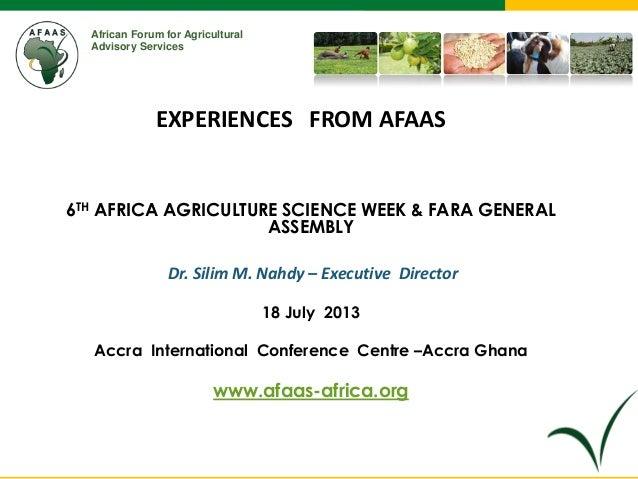 Afaas presentation __accra sc week july 2013