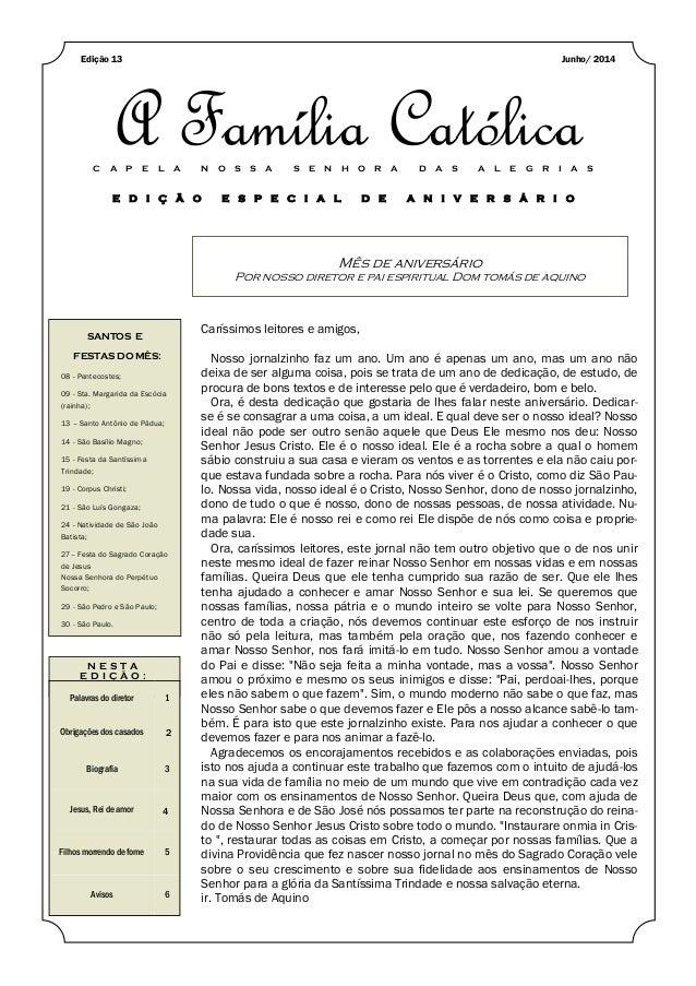 A família católica, 13 edição, junho 2014