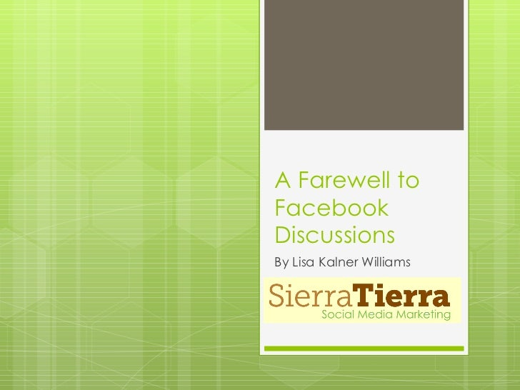A Farewell to Facebook Discussions
