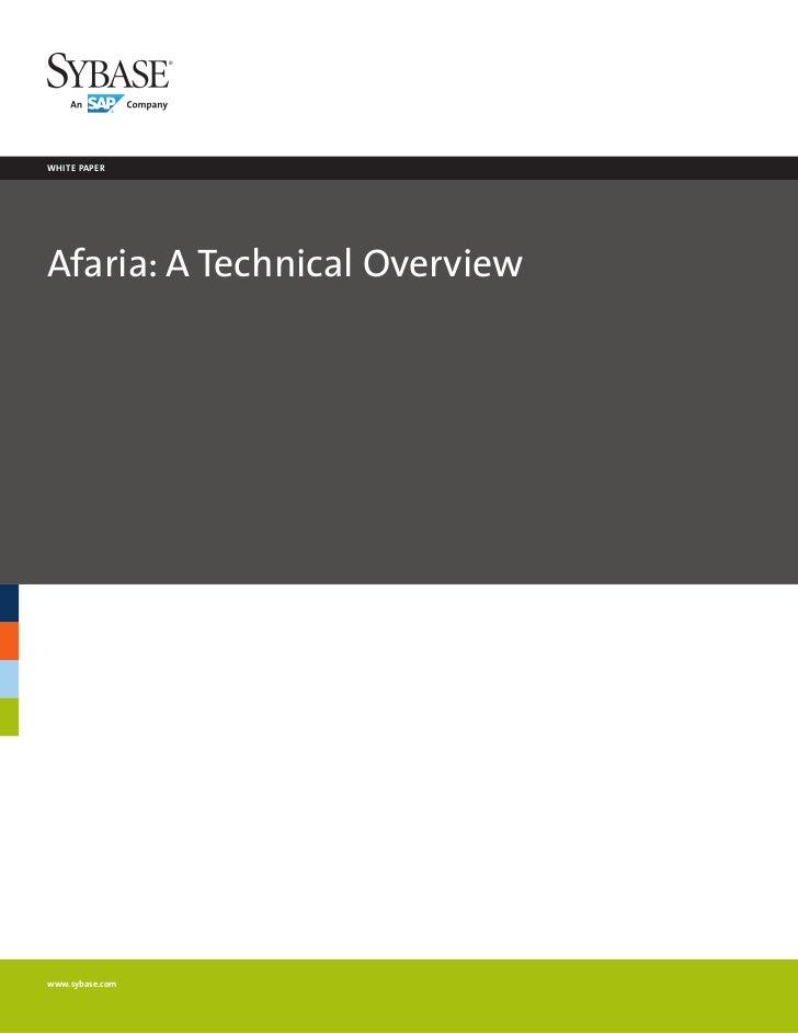 Afaria Technical White Paper