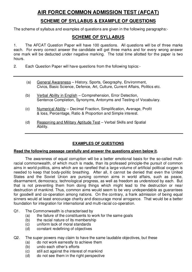 cat sample question paper pdf