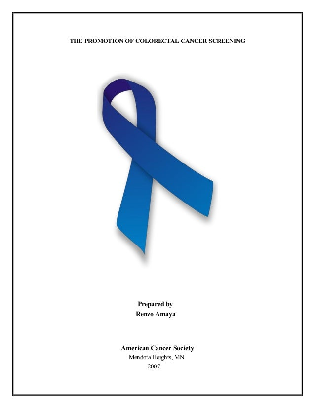 research report on colorectal cancer