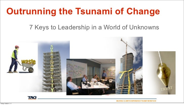 Outrunning the Tsunami of Change                        7 Keys to Leadership in a World of Unknowns                       ...