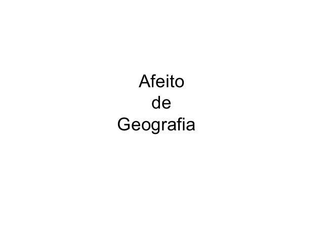 Afeito de Geografia