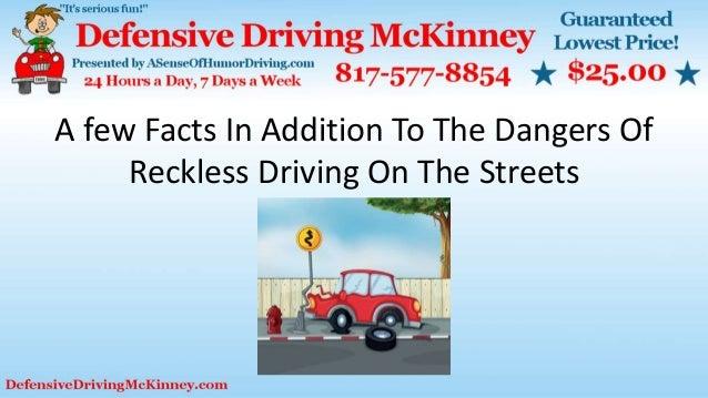 dangers of reckless driving essay Dangers of speeding essay example of essay : dangers of speeding essay.