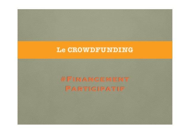 Crowdfunding- Petit Déjeuner Association Française des Fundraisers à Lille - 15/10/2013 -Christophe MASSON-