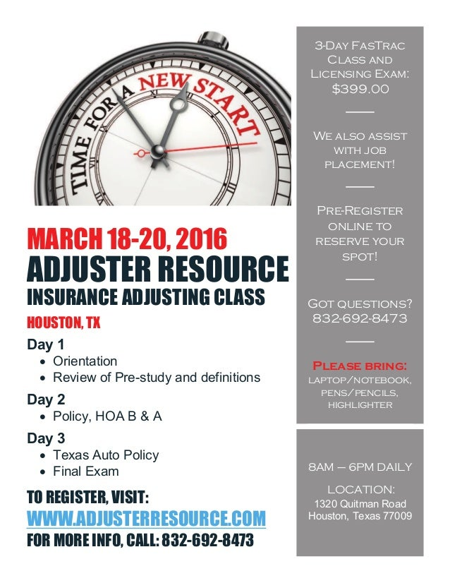Texas All-lines Adjuster Licensing Class