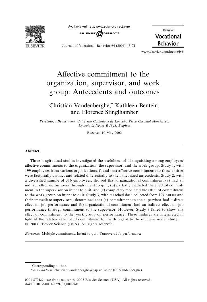 Journal of Vocational Behavior 64 (2004) 47–71                                                                            ...