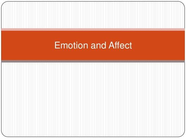 Affect and emotion cvh