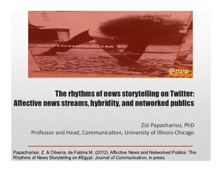 The rhythms of news storytelling on Twitter:Affective news streams, hybridity, and networked publics