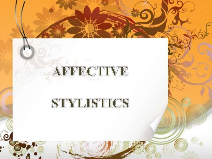 Affective stylistics