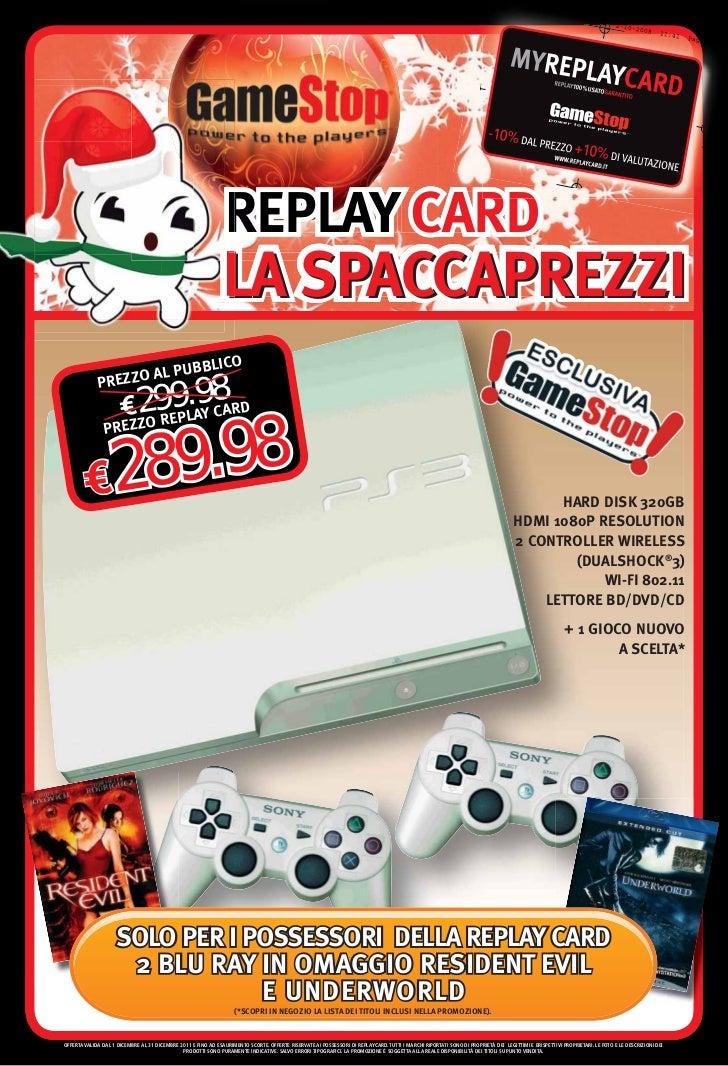 REPLAY CARD                                                               LA SPACCAPREZZI                          UBB    ...