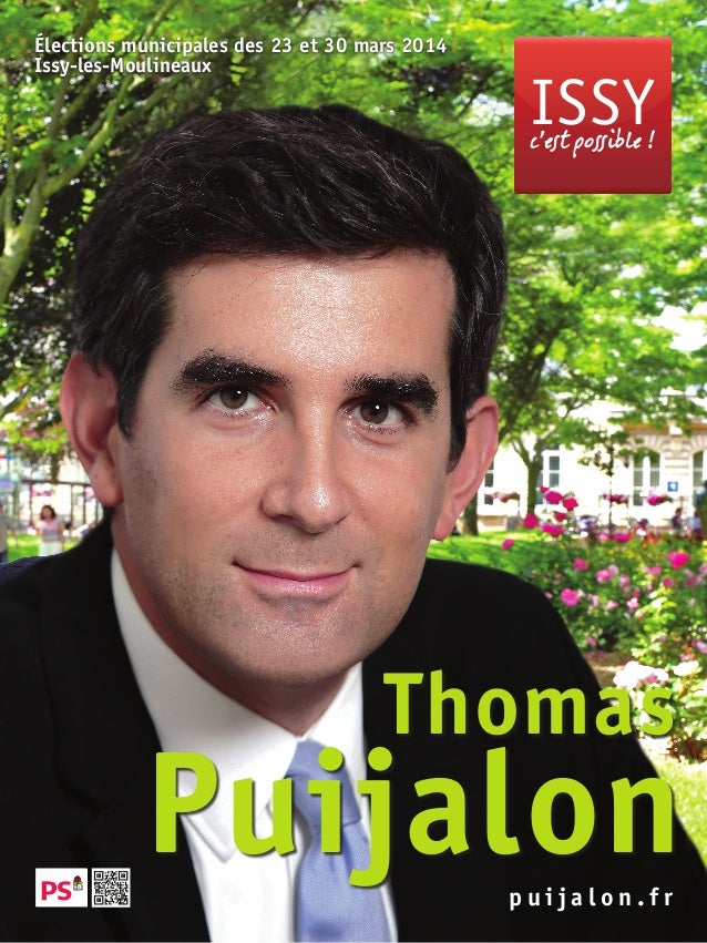 Affiche officielle Thomas PUIJALON Issy c'est possible