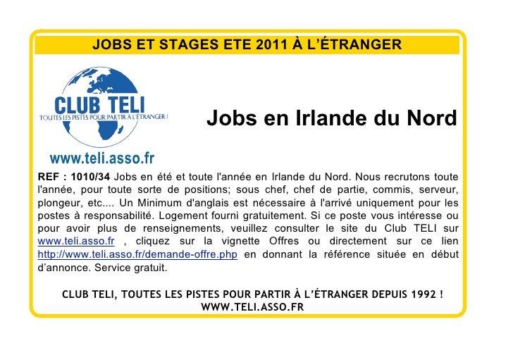 Affiches offres de jobs d'été et stage d'été 2011