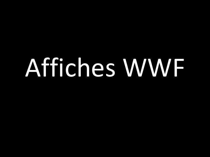 Affiches WWF