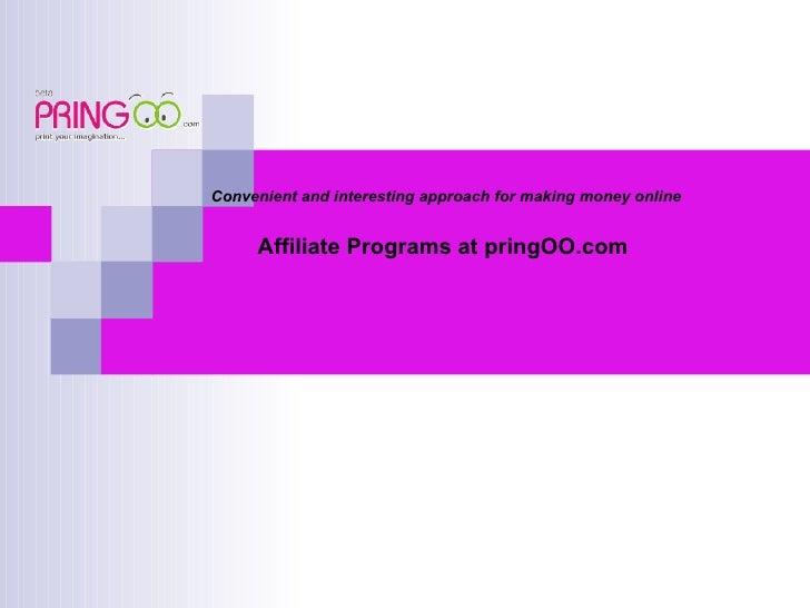 Affiliate Program at pringOO.com
