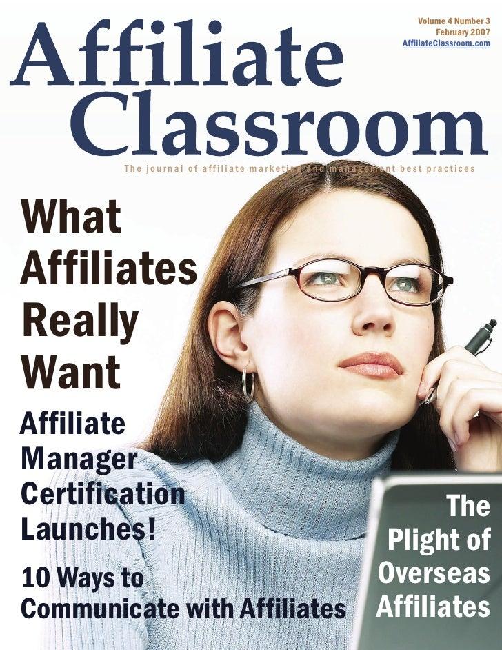 Affiliate Classroom Magazine Feb 2008