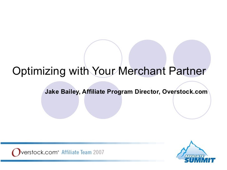 Optimizing With Your Merchant Partner