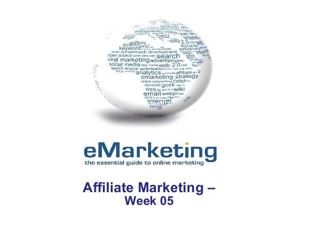 Affiliate Marketing – Week 05