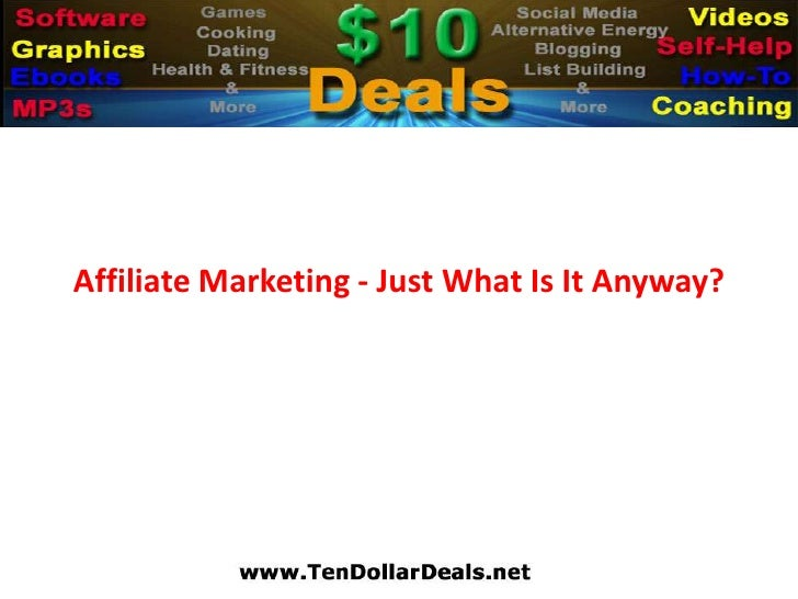 Affiliate Marketing - Just What Is It Anyway?<br />