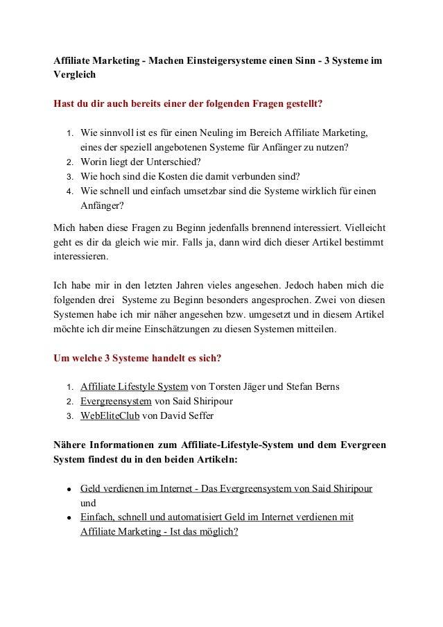 AffiliateMarketingMachenEinsteigersystemeeinenSinn3Systemeim Vergleich  Hastdudirauchbereitseinerder...