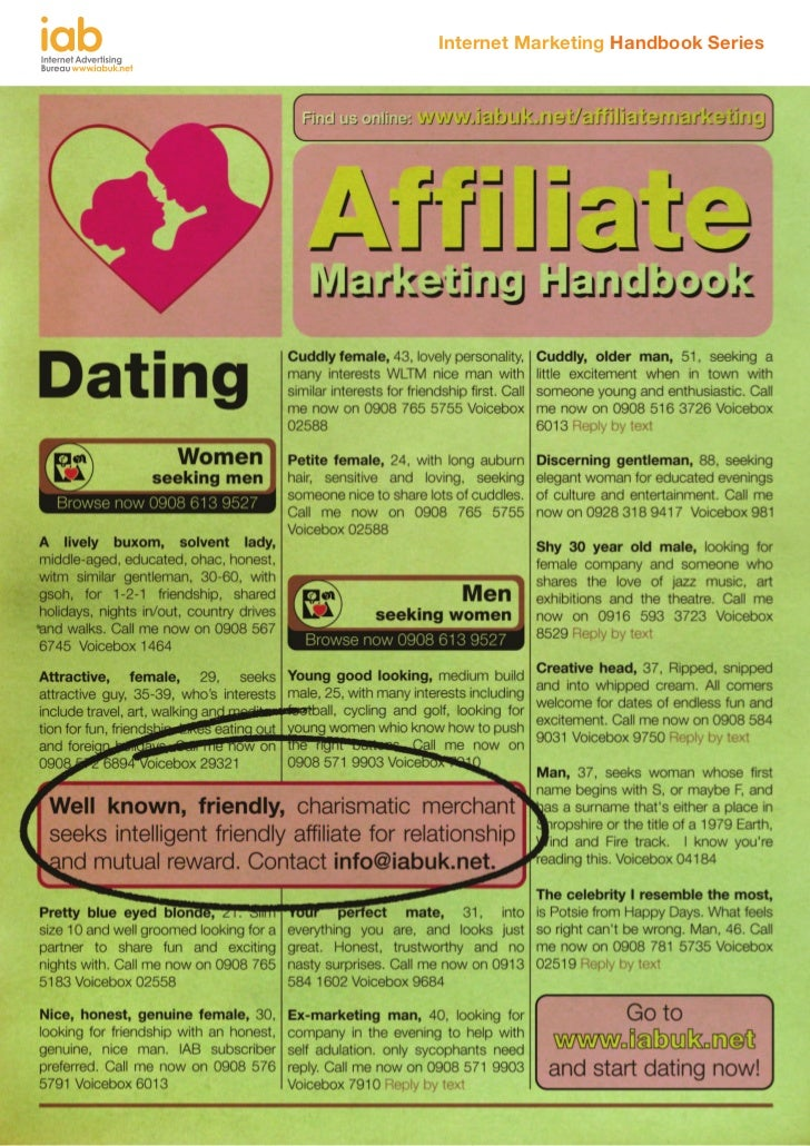 Affiliate marketing handbook iab 2012