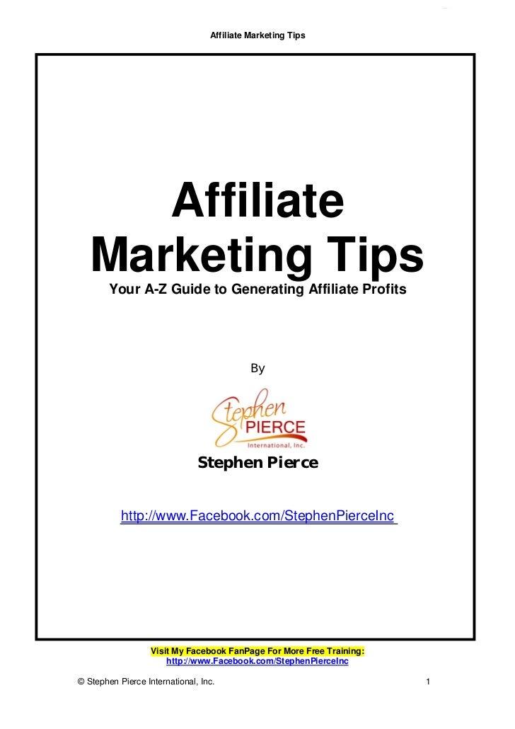 Affiliate marketing tips report