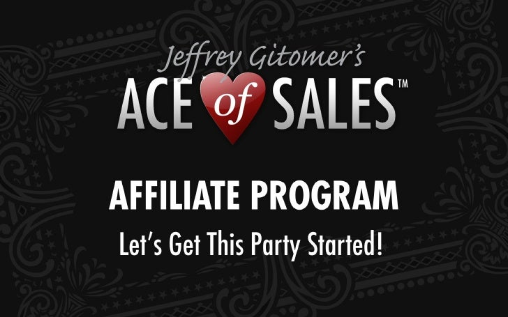 Ace of Sales Affiliate Program Walkthrough