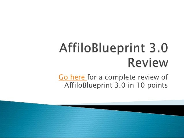 Go here for a complete review of AffiloBlueprint 3.0 in 10 points